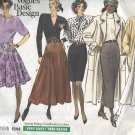 Vogue 1944 (1987) Basic Designs Straight Flared Skirt Pattern Size 14 16 18 UNCUT