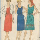 Butterick 4206 Misses / Petite Jacket Sleeveless Sun Shift Dress Belt Pattern Size 6 UNCUT