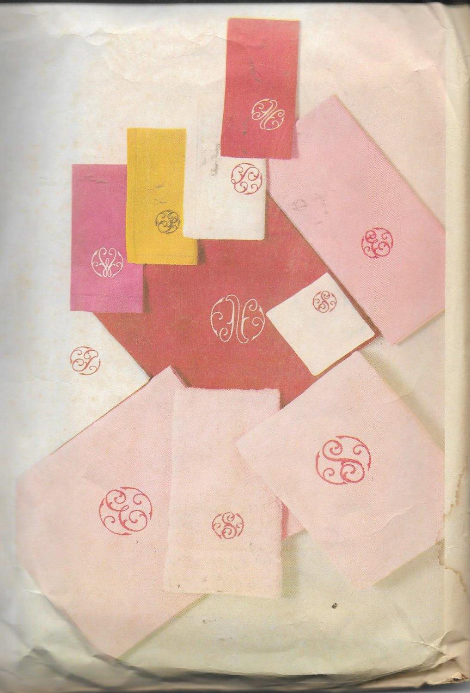 McCalls 8986 (1967) Vintage Embroidery Monogram Decorative Script Alphabet Transfer Pattern UNCUT