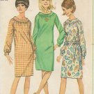 Simplicity 6621 Vintage Dress Raglan Sleeves Cuffs  Gathered Neck Bias Collar Pattern Size 16 UNCUT