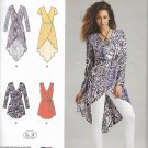 Simplicity 1064 (2015) Wrap Tunic Top Blouse Tie Belt Pattern Size 14 16 18 20 22 UNCUT