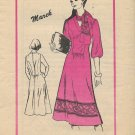 Vintage Rare Prominent Designer Marek A-801 Dress Pattern Size 10 CUT