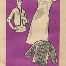 Marian Martin Vintage Mail Order Pattern 9448 Dress Jacket Size 12 1/2 PART CUT