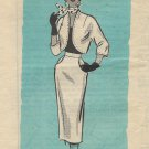 Ann Adams vintage Mail Order Pattern 4860 Skirt Bolero Jacket Size 10 CUT