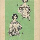 Vintage Printed Pattern Mail Order 9057 Top Blouse Peasant Boho Size 20 1/2 UNCUT