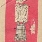 Vintage Mail Order Printed Pattern 9125 Peasant Boho Top Blouse Jumper Size 20 1/2 UNCUT