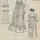 Vintage Mail Order Printed Pattern 5520 Sun Dress Gown Size Large UNCUT