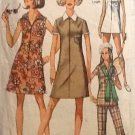 Simplicity 8848 (1970s) Vintage Dress Tunic Top Pants Pattern Size 16 Petite CUT