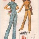 Simplicity 9142 (1970) Vintage Front Zip Long Short Sleeve Jumpsuit Pattern Size 12 UNCUT