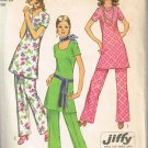 Simplicity 9363 (1971) Vintage Tunic Elastic Waist Pants Patern Size 12 UNCUT