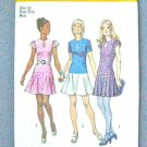 Simplicity 9862 (1972) Vintage Drop Waist Mini Dress Pleated Flared Skirt Pattern Size 12 UNCUT
