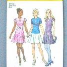 Simplicity 9862 (1972) Vintage Drop Waist Mini Dress Pleated Flared Skirt Pattern Size 10 UNCUT