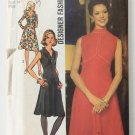 Simplicity 5011 ( 1972) Vintage Designer Fashion Empire Dress Pattern Size 10 UNCUT