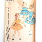 Simplicity Priner 3566 (1960s) Vintage Child Girls Dress Blouse Top Jumper Pattern Size 2 UNCUT