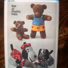 Simplicity 9647 (1973) Vintage Dog Bear Stuffed Doll Toy Clothes Pattern UNCUT
