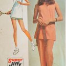 Simplicity 9417 (1971) Vintage Tunic Top Pants Shorts Tennis Pattern Size 12 UNCUT