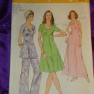 Simplicity 5293 ( 1972) Vintage Dress Tunic Top Pants Pattern Size 10 UNCUT