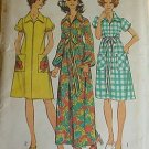 Simplicity 5365 (1972) Vintage Robe Duster Dress Wide Collar Puff Sleeves Pattern Size 10 UNCUT