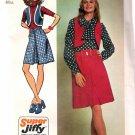 Simplicity 9814 (1971) Vintage Mini Skirt Bolero Jacket Vest Pattern Size 14 UNCUT