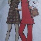 Simplicity 9636 (1971) Vintage Mini Wrap Side Button Jumper Pants Pattern Size 18 UNCUT