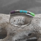 Sterling Silver Mixed Turquoise Stone Ring (sz.6½)