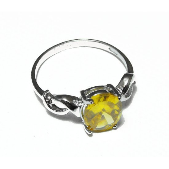 Sterling Silver And Citrine Ring (sz.7½)