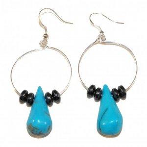 Turquoise Tear Drop Earrings