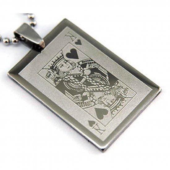 King Playing Card Pendant