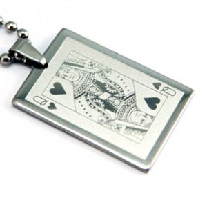 Queen Playing Card Pendant