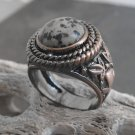 Copper And Jasper Stone Ring (sz.10½)