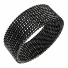 Steel Mesh Ring Sz.10½ (blk.)