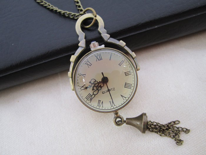Steam Punk Pendulous Pendant Timepiece With Chain