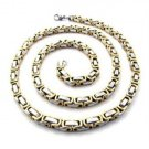 Silver And Gold Stainless Steel Chain Necklace