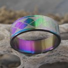 Stainless Steel Pearlescent Ring (sz.12)