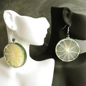 Fresh Juicy Lime Slice Earrings