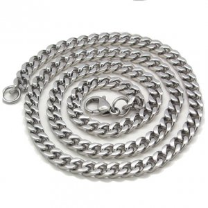 Stainless Steel Cuban Curb Necklace