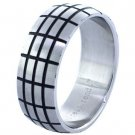 Steel Pattern Etched Ring (sz. 9,10,11,12)