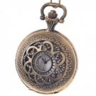 Antique Style Flower Pattern Pocket Watch With Chain