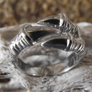 Goth Stainless Steel Dragon Claw Ring (sz.10½)