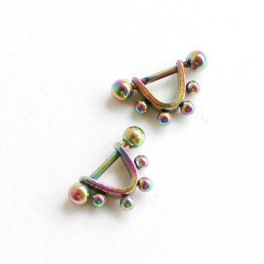 Multi Color Stainless steel Ball Stud Earrings