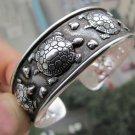 Tibetian Silver Surfer Turtle Cuff Bracelet Unisex