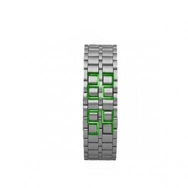 Hidden L.E.D. Display Stainless Steel Watch (sg)