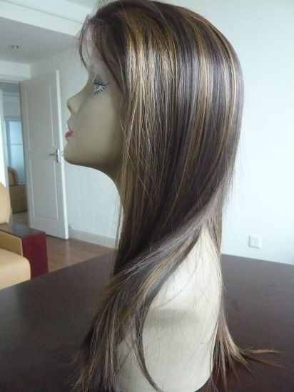 18 inch Indian Remy Lace Front Wig Silky Straight