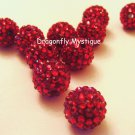 18mm Large Holes Basketball Wives Resin Beads Red