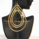 """ Dolce "" Rope Earrings Gold"