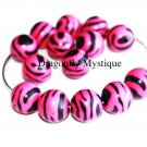 Basketball Wives Zebra Beads Hot Pink & Black
