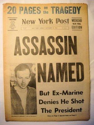 Kennedy Assassination N.Y. Post Nov, 24, 1963