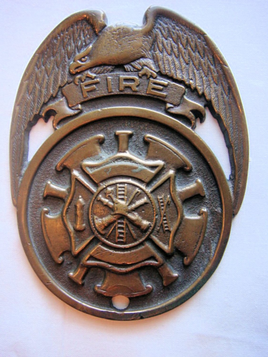 Fire Department Solid Brass Plaque