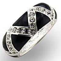 Black & Swarovski Crystal Ring (A32615)