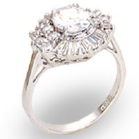 Clear Rosette CZ Ring (A22027)